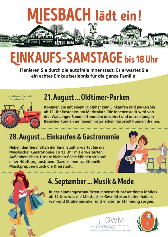 Grossansicht in neuem Fenster: Einkaufs-Samstage Miesbach bis Plakat_Flyer