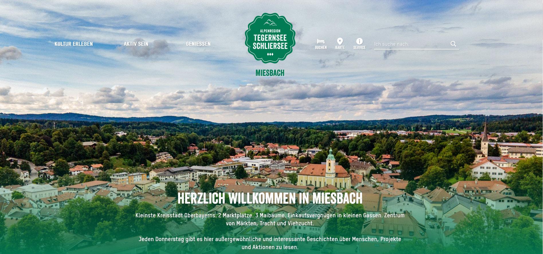 Screenshot Tourismus Miesbach