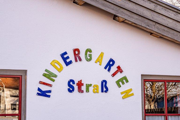 Kindergarten Straß KiGa Straß Schriftzug